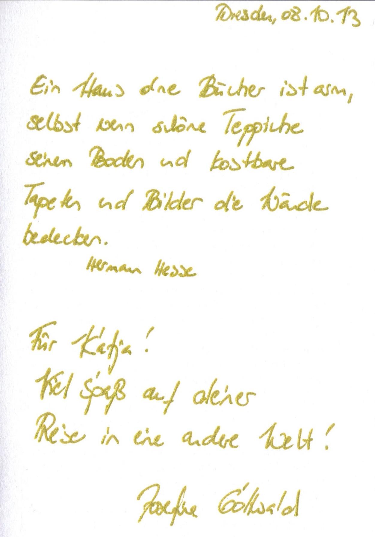 Signatur Josefine Gottwald