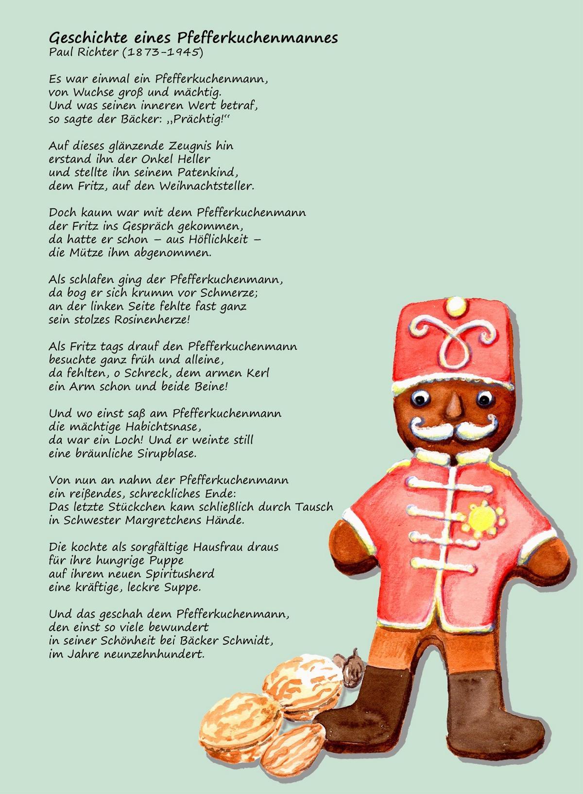 Der Pfefferkuchenmann Katjas Bücher Und Rezepte